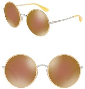 Dolce & Gabbana Metal 56mm Round Sunglasses