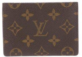 Louis Vuitton Monogram Card Case - BROWN - STYLE