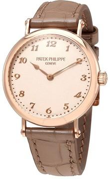 Patek Philippe Cream Dial 18kt Rose Gold Automatic Ladies Watch