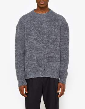 Jil Sander Crew Neck LS Sweater in Open Grey