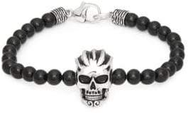 Effy Men's Black Onyx and Sterling Silver Skull Bracelet