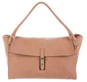 Brunello Cucinelli Leather Flap Handle Bag