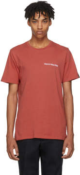 Rag & Bone Red Have A Nice Day T-Shirt