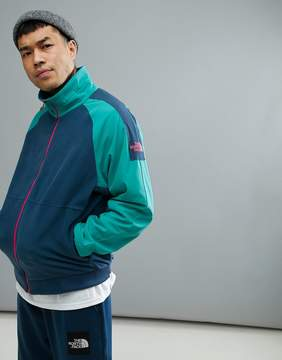 The North Face 1990 Staff Full Zip Fleece In Green/Blue