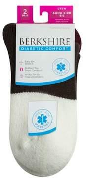Berkshire Women's Cushioned Diabetic Crew Socks 2 Pack