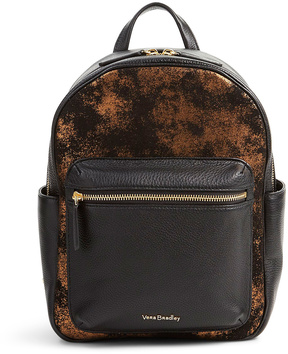 Vera Bradley Bronze Age Leighton Leather Backpack - BRONZE - STYLE
