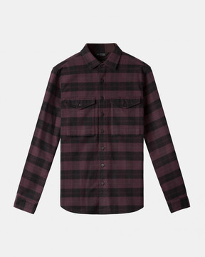 Ubiq Wings+Horns - Flannel Utility Shirt (Oxblood)