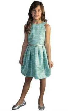 Blush by Us Angels Girl's Metallic Party Dress