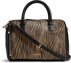 Vera Bradley Uptown Stripes Marlo Leather Satchel - UPTOWN - STYLE