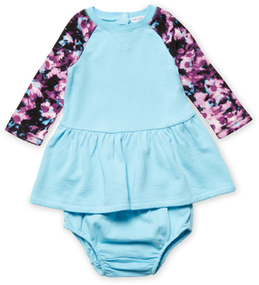 Splendid Baby Abstract Floral Dress - Bright Blue, Size 12-18m