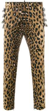 DSQUARED2 leopard print trousers