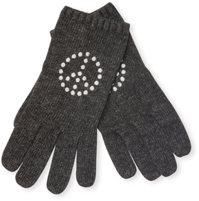 Portolano Women's Embroidered Rib Gloves