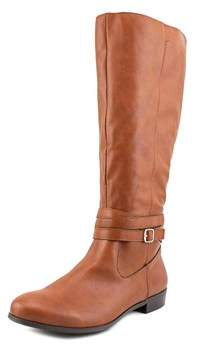 Style&Co. Style & Co Fridaa Wide Calf Women Round Toe Synthetic Brown Knee High Boot.
