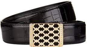 Stefano Ricci Diamond Leather Belt