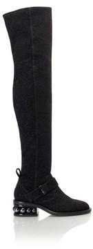 Nicholas Kirkwood Casati Pearl Over The Knee Boot In Black Shimmer