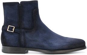 Santoni side zip boots