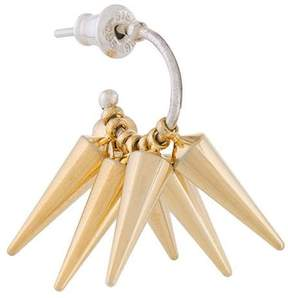 E.m. spiked cluster earring