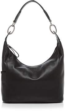 Longchamp Le Foulonne Small Leather Hobo - BLACK/SILVER - STYLE