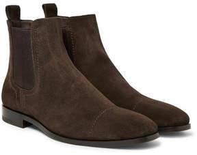 Ermenegildo Zegna Cap-Toe Suede Chelsea Boots