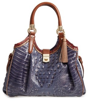 Brahmin Andesite Lucino Elisa Leather Shoulder Bag - Blue