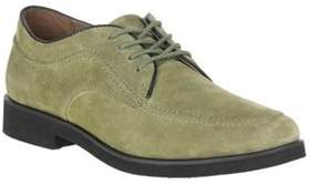 Hush Puppies Men's Bracco Moc Toe Oxford Olive Green Suede Size 7 M.