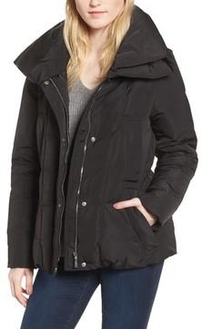 Donna Karan Women's Dkny Prato Twill Wide Hood Puffer Coat