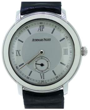 Audemars Piguet Jule Audemars 18K White Gold W/ Skeleton Back Men