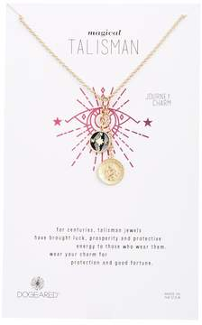 Dogeared Small Compass Cluster Pendant Necklace
