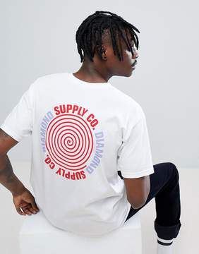 Diamond Supply Co. T-Shirt With Spiral Back Print