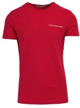Calvin Klein Jeans Men's Red Cotton T-shirt.