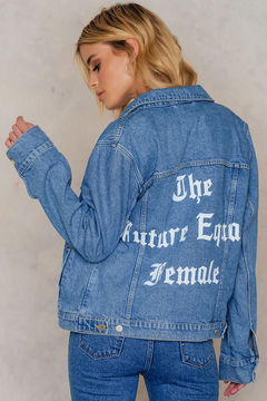 NA-KD The Future Equals Female Denim Jacket