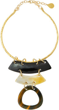 Devon Leigh Layered Horn Collar Pendant Necklace