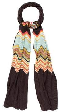 M Missoni Patterned Knit Scarf