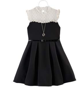 Knitworks Girls 7-16 Belted Lace Skater Dress