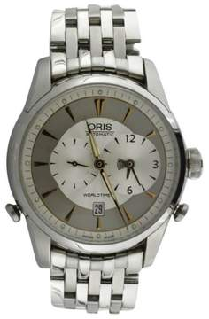 Oris Artelier Worldtimer Stainless Steel and Rose Gold Mens Watch