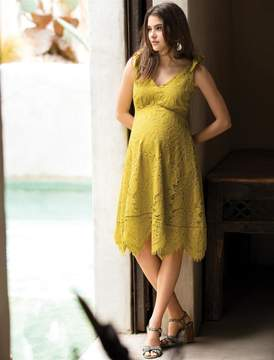 A Pea in the Pod Hanky Hem Maternity Dress