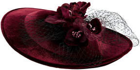 San Diego Hat Company Velvet With Flower Detail