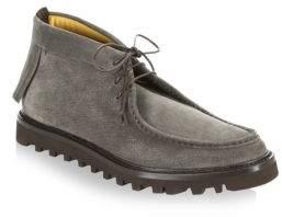 Giorgio Armani Thick Sole Leather Chukka Moccasins
