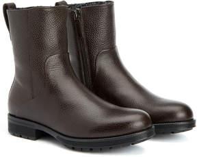 Aquatalia Locke Waterproof Leather Shearling Boot