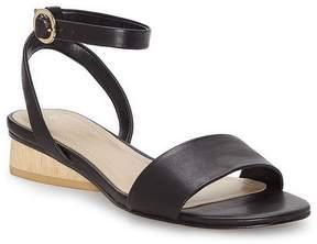 Enzo Angiolini Polliana Leather Ankle Strap Block Heel Sandals