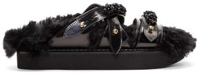 Simone Rocha Black Beaded Strappy Sandals