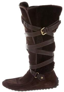 Louis Vuitton Suede Knee-High Boots