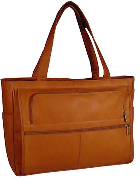 David King Leather 148 Womens Multipocket Briefcase