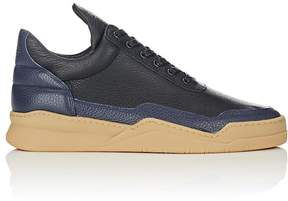 Filling Pieces MEN'S BNY SOLE SERIES: MEN'S LEATHER LOW TOP SNEAKERS