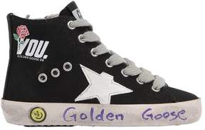 Golden Goose Deluxe Brand Francy You Print Canvas High Top Sneaker