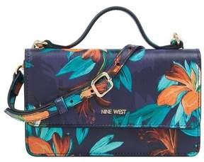 Nine West Women's Top Handle Floral Wallet Crossbody