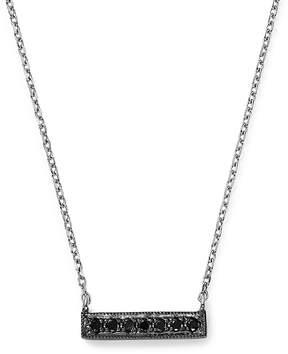 Black Diamond Dana Rebecca Designs Sylvie Rose Mini Bar Necklace in 14K White Gold and Black Rhodium, 16
