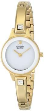 Citizen Women's Ex1322-59A Silhouette Gold-tone Bangle Watch