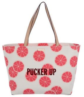 Kate Spade Francis Pucker Up Tote w/ Tags - WHITE - STYLE