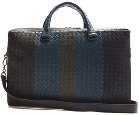 Bottega Veneta Intrecciato tri-colour leather briefcase